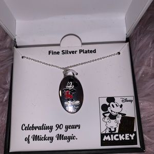 Silver plated Mickey Mouse necklace